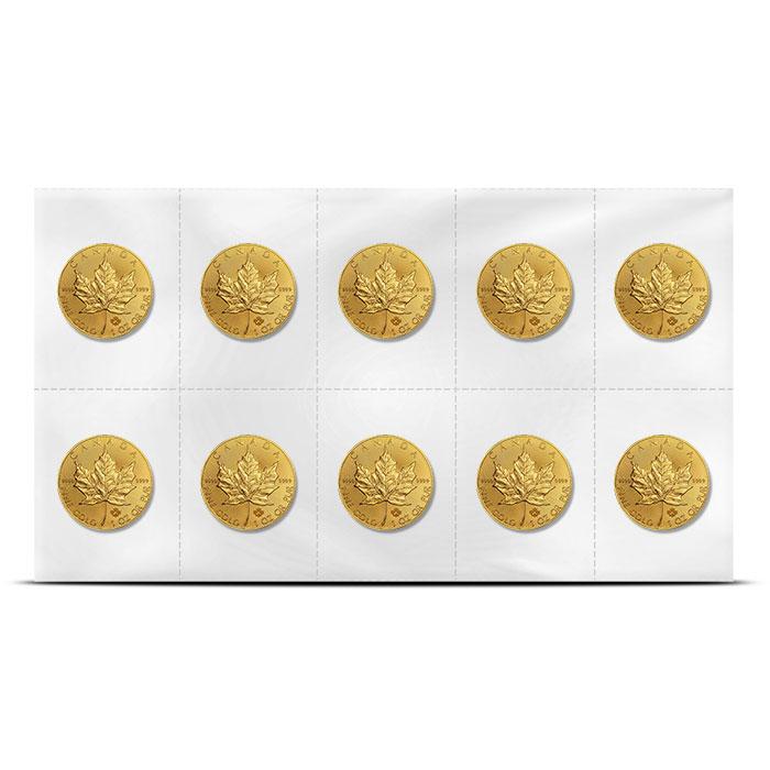 Canadian Flex Pack Gold Maple Leaf Sheet