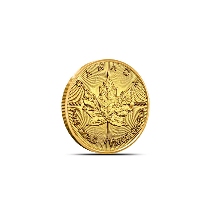Canadian Gold Maple   1/20 oz