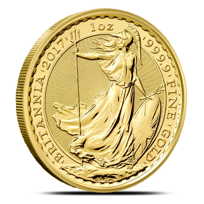 2017 1 oz Gold Britannia   British Royal Mint-17025