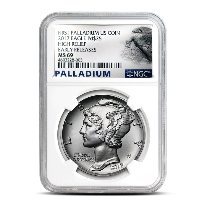 2017 1 oz American Palladium Eagle | NGC MS69