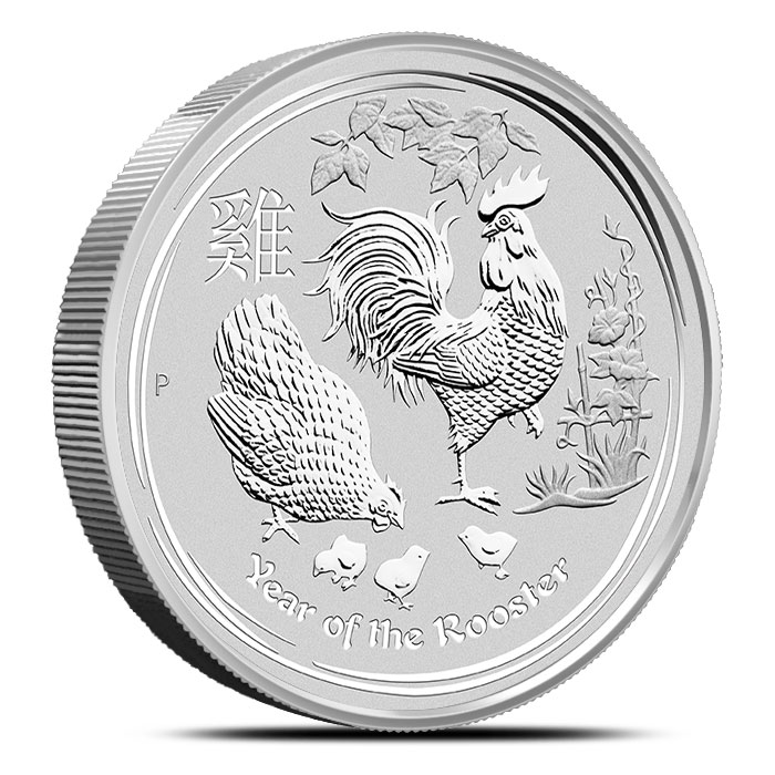 Year of the Rooster kilo Silver Coin   Perth Mint