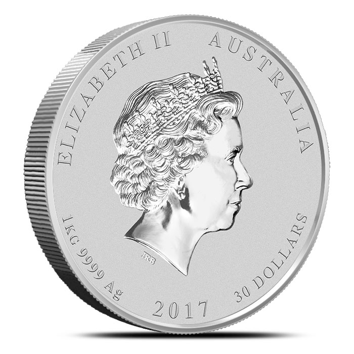 Kilo Year of the Rooster Silver Coin   Perth Mint