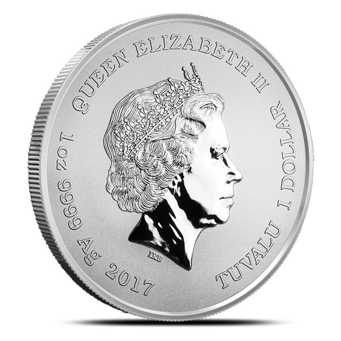 2017 Spiderman Silver Coin Reverse