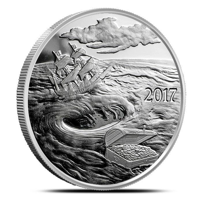 Silverbug Island Whirlpool 1 oz Proof Silver Round