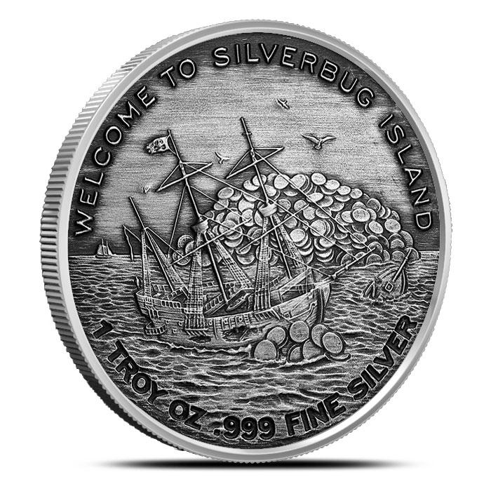 SilverBug Island Silver Round Reverse