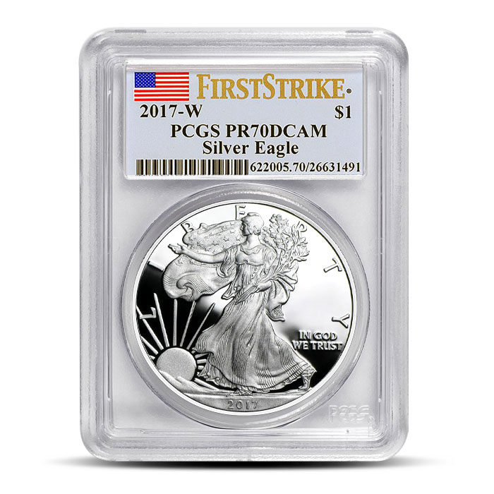 2017 Proof Silver Eagle PR70 | First Strike