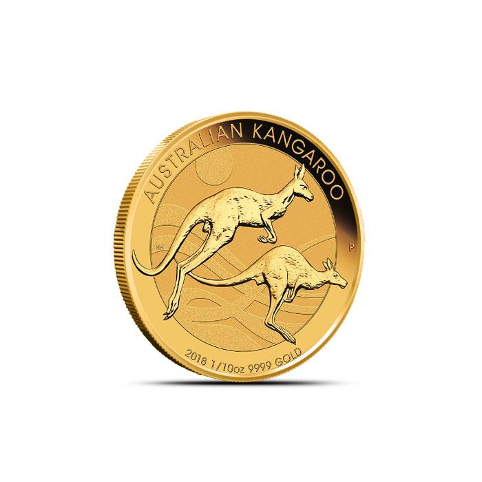 2018 1/10 oz Gold Australian Kangaroo