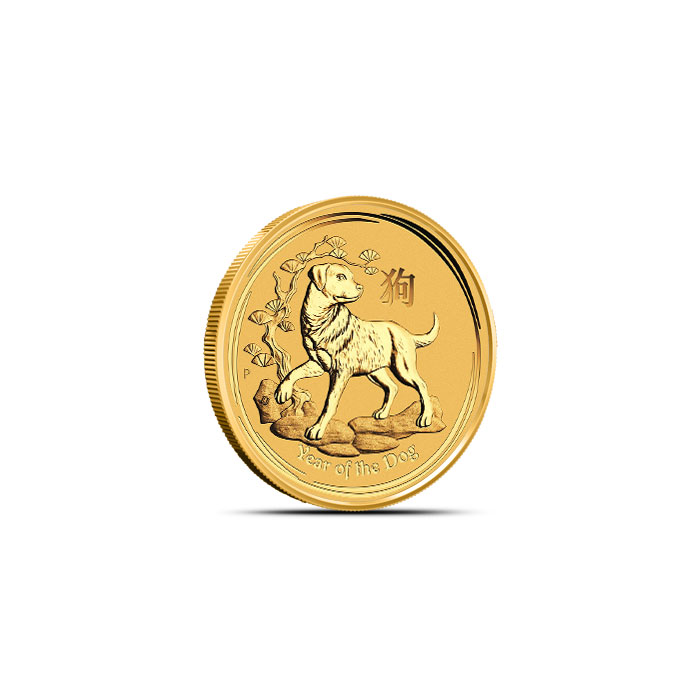 2018 Australia 1/20 oz Gold Lunar Dog