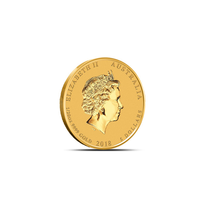 Australia 1/20 oz Gold Dog