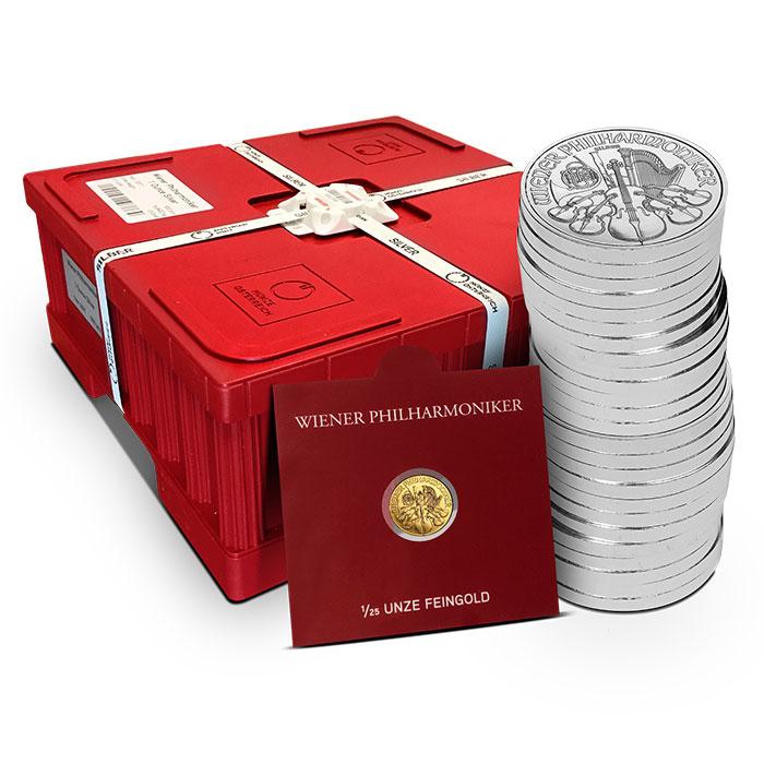 2018 1 oz Austrian Silver Philharmonic Monster Box | Buy 475 Get 500