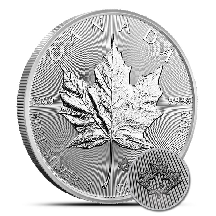 2018 1 oz Canadian Silver Maple Leaf Roll