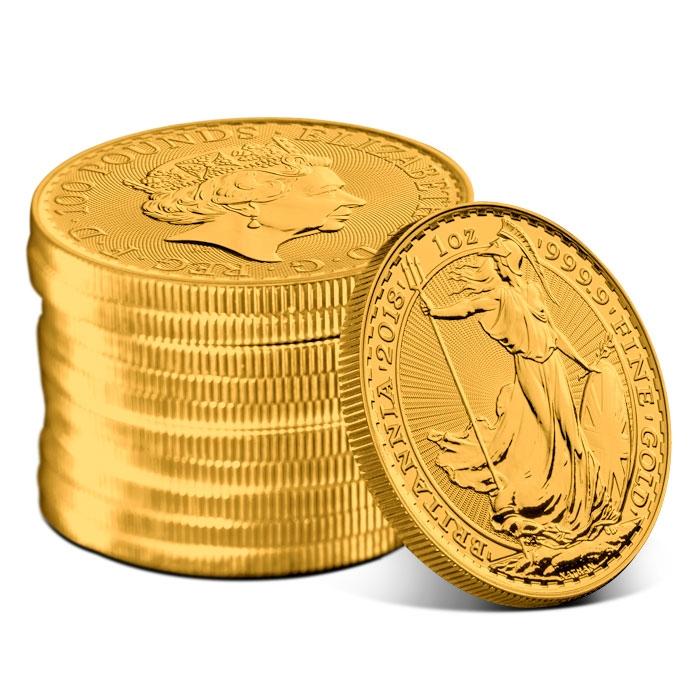 2018 1 oz Gold Britannia Stack
