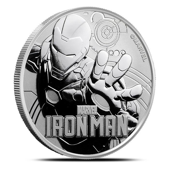 2018 Tuvalu 1 oz Silver Iron Man
