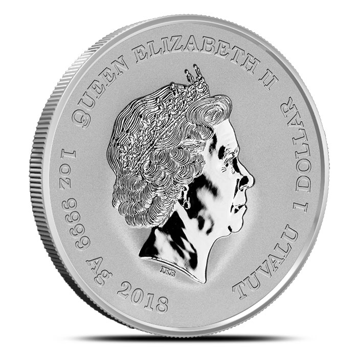 1 oz Tuvalu Silver Thor Coin