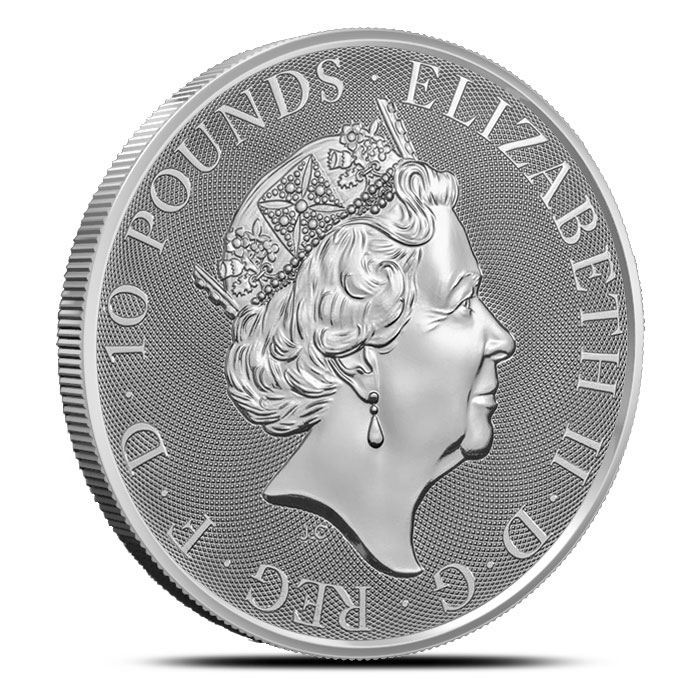 2018 10 oz British Silver Queen