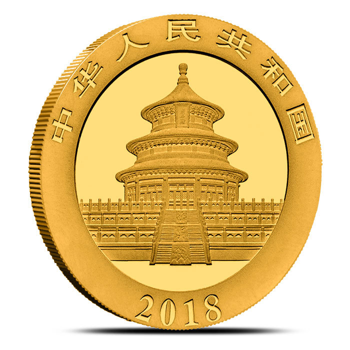 2018 Chinese 30 gram Gold Panda Reverse Not Sealed