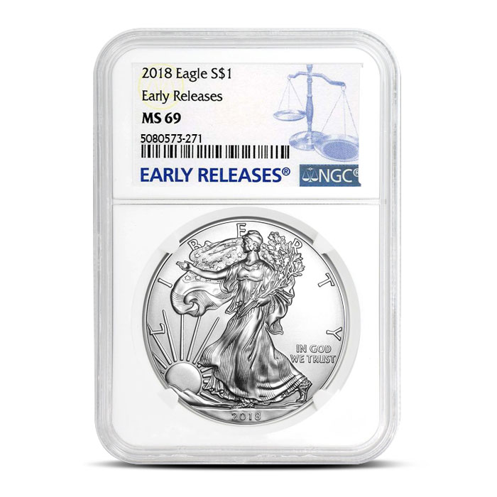 2018 Silver American Eagle | NGC MS69 ER