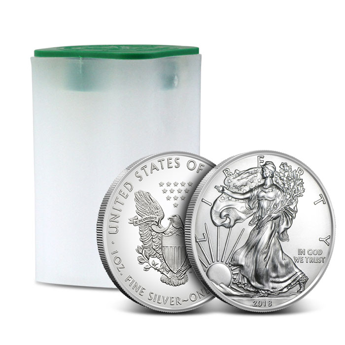 2018 American Silver Eagle Roll | 20 Coins