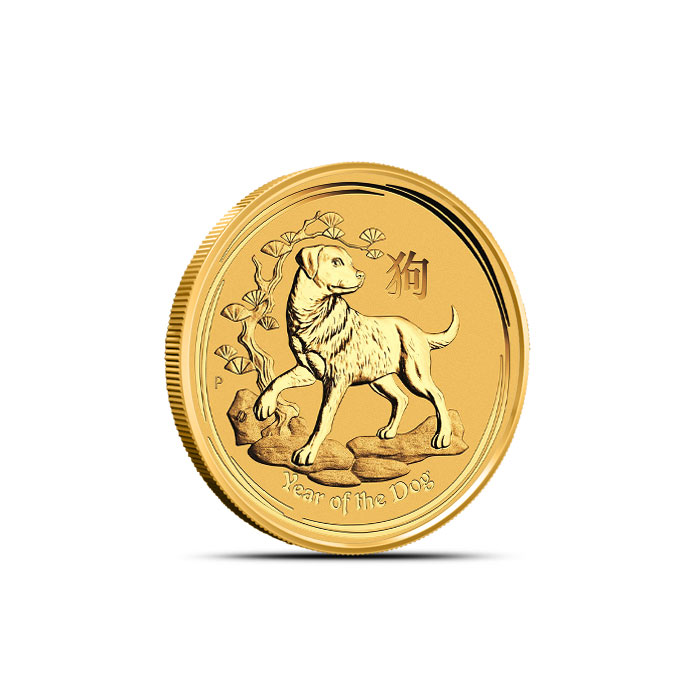 2018 Australia 1/10 oz Gold Lunar Dog