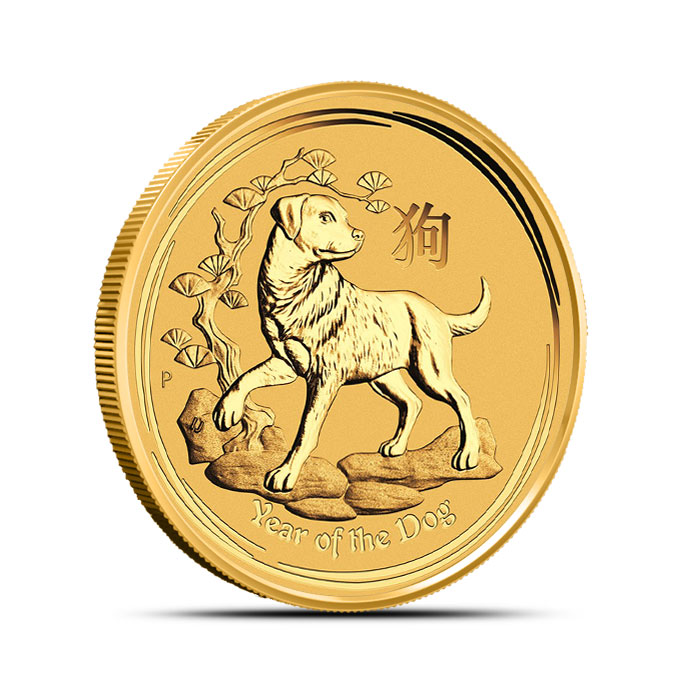 2018 Australia 1/2 oz Gold Lunar Dog