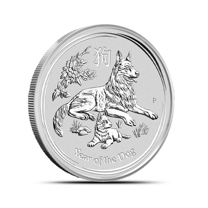 2018 Perth Mint Year of the Dog 1/2 oz Silver Lunar Coin
