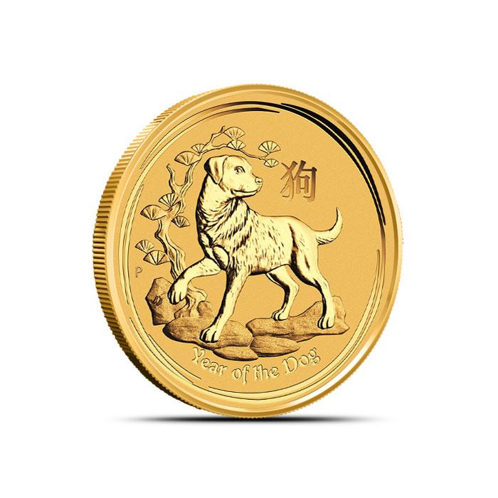 2018 Australia 1/4 oz Gold Lunar Dog