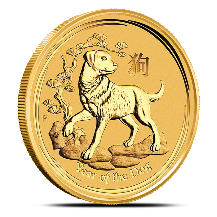 2018 Australia 1 oz Gold Lunar Dog
