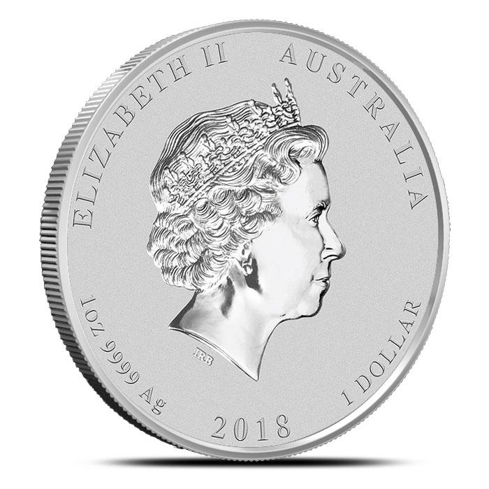 Australia 1 oz Silver Lunar Dog