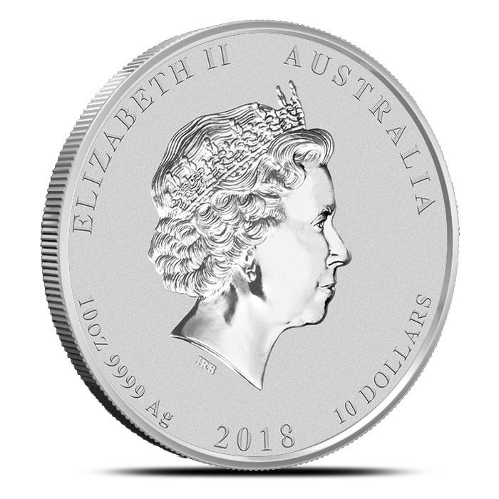 10 oz Silver Lunar Dog Coin   Perth Mint