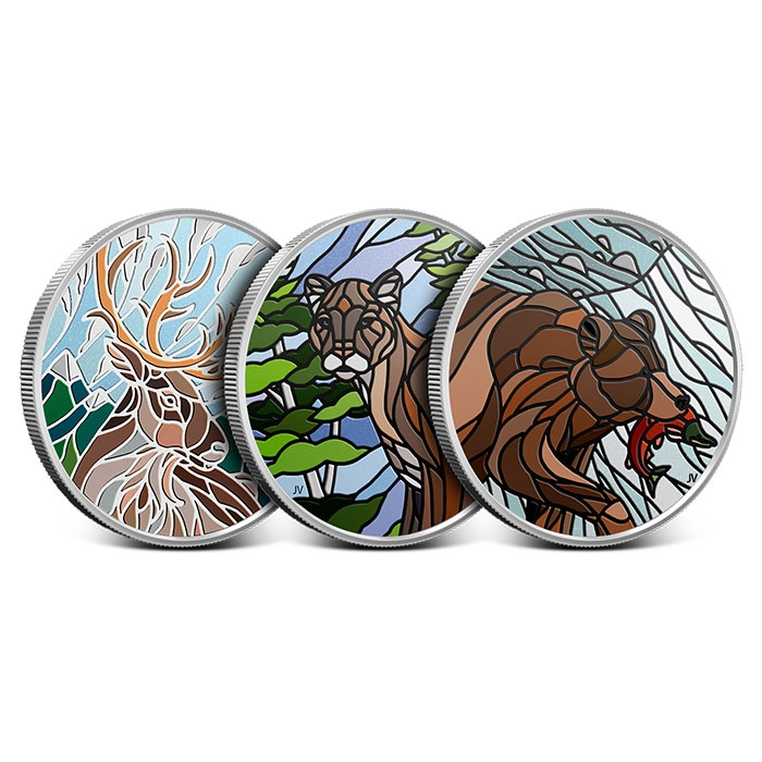 2018 Canadian 1 oz Silver Mosaics | 3 Coin Set