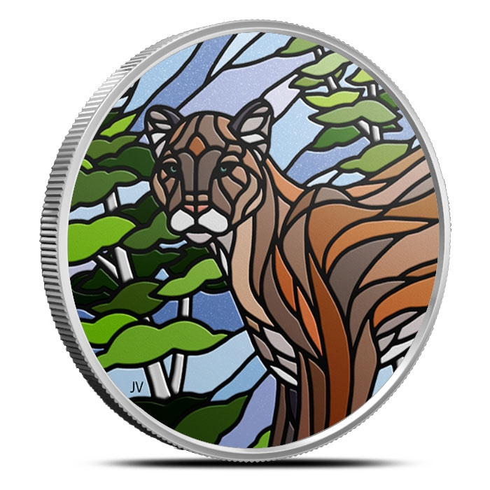 2018 Canadian 1 oz Silver Mosaics | Cougar