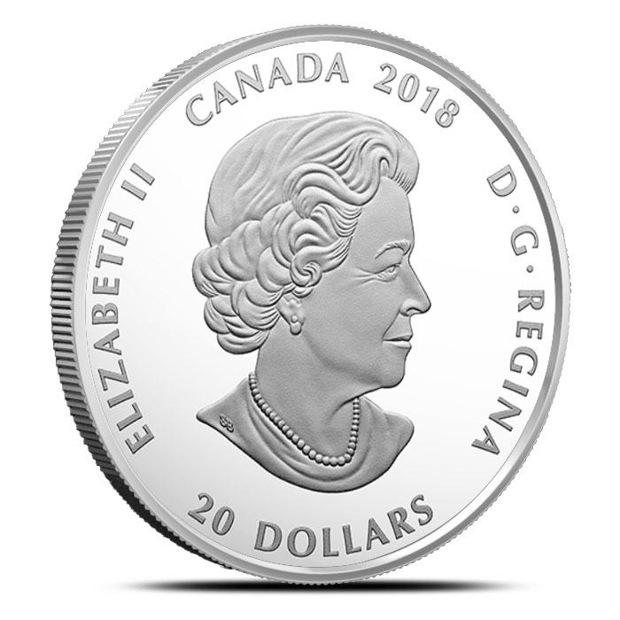 2018 Canadian 1 oz Silver Mosaics | Grizzly Bear