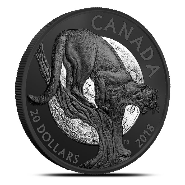 2018 Canadian 1 oz Silver Nocturnal By Nature | Cunning Cougar