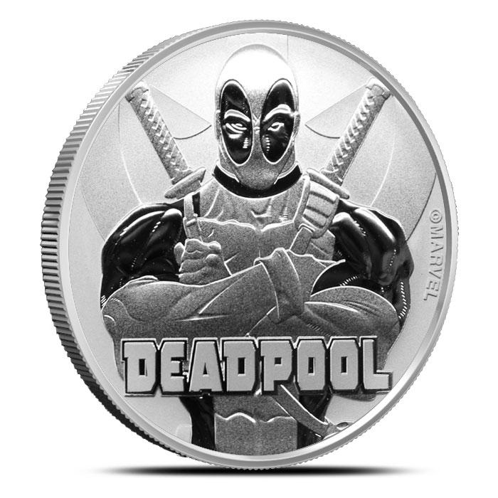 2018 Tuvalu 1 oz Silver Marvel Series | Deadpool