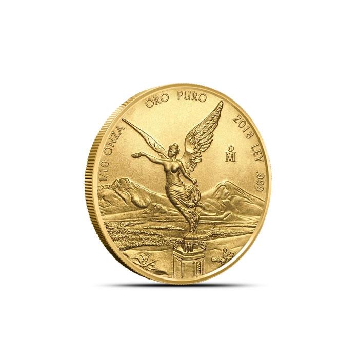 2018 Mexican 1/10 oz Gold Libertad Coin