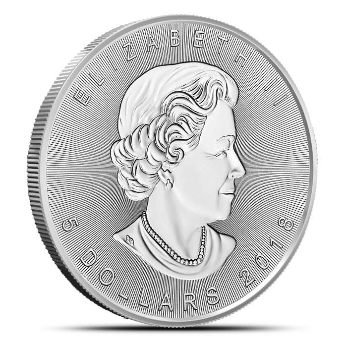 2018 Canada 1 oz Silver Incuse Maple Leaf Queen Effigy