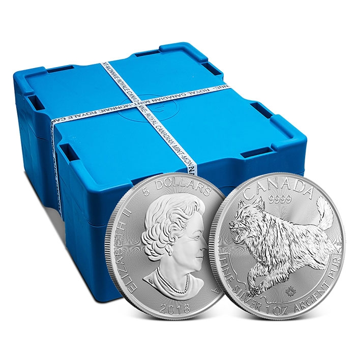 2018 Canada 1 oz Silver Wolf Monster Box