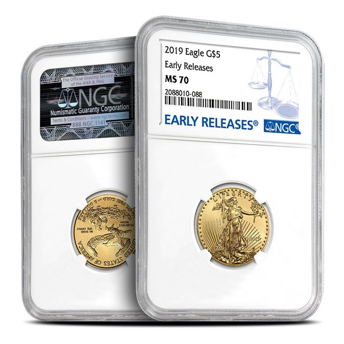 2019 1/10 oz Gold American Eagle NGC MS70 - Early Release