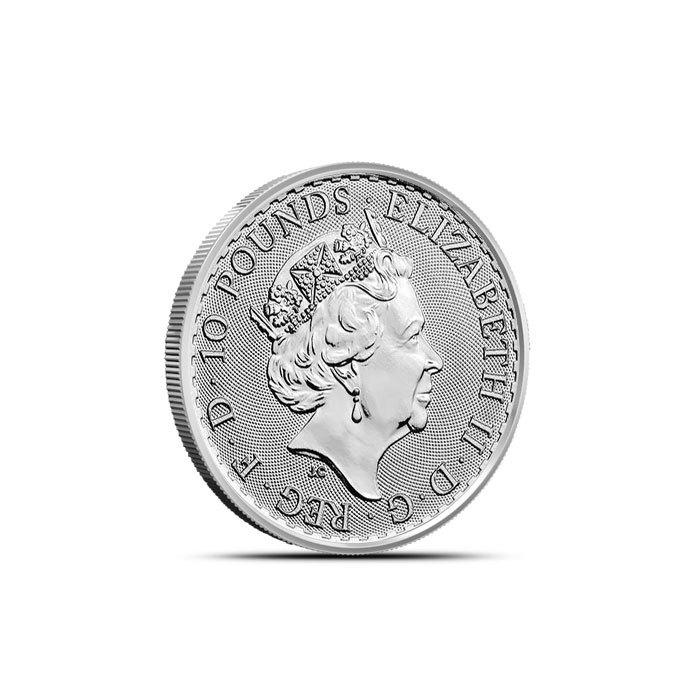2019 British 1/10 oz Platinum Britannia Obverse