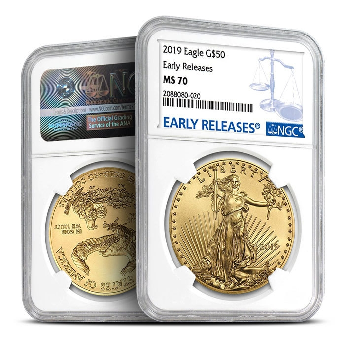 2019 1 oz Gold American Eagle NGC MS70 - Early Release