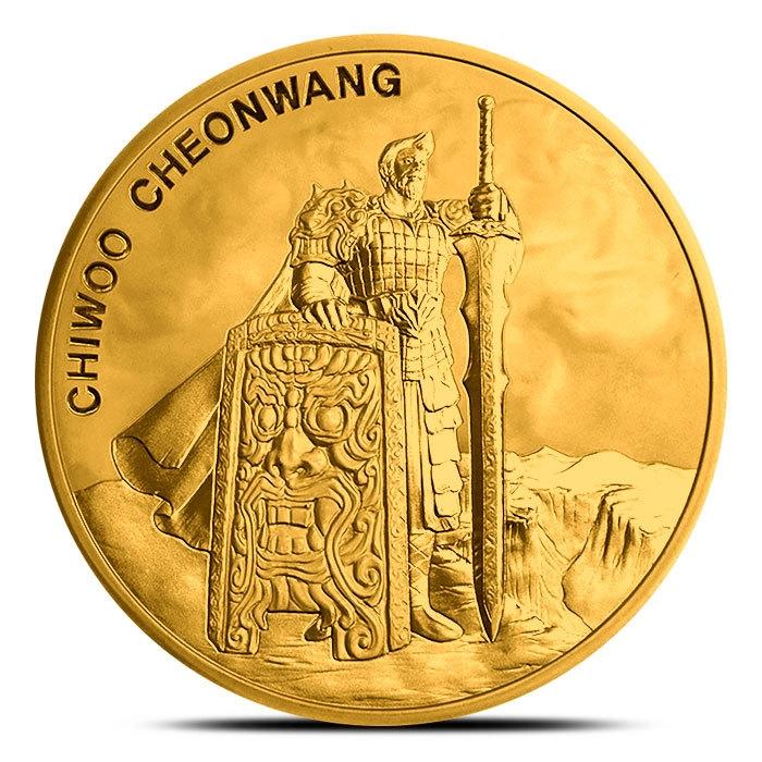 2019 South Korea 1 oz Gold Chiwoo Cheonwang