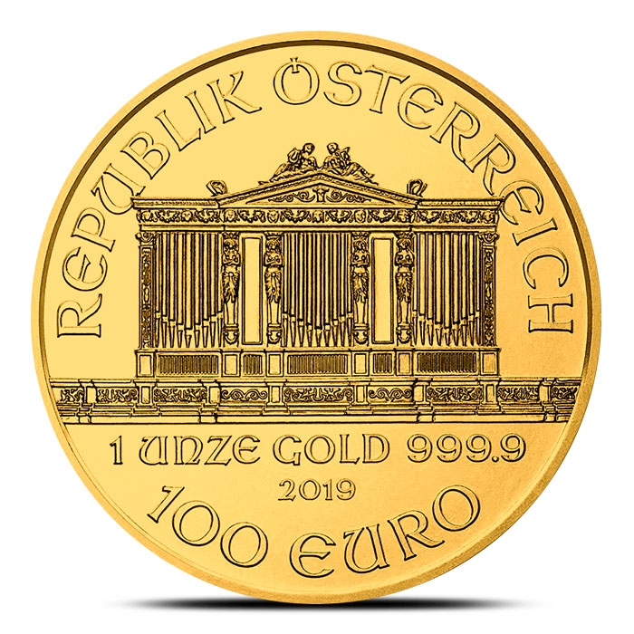 2019 Austrian 1 oz Gold Philharmonic Coin