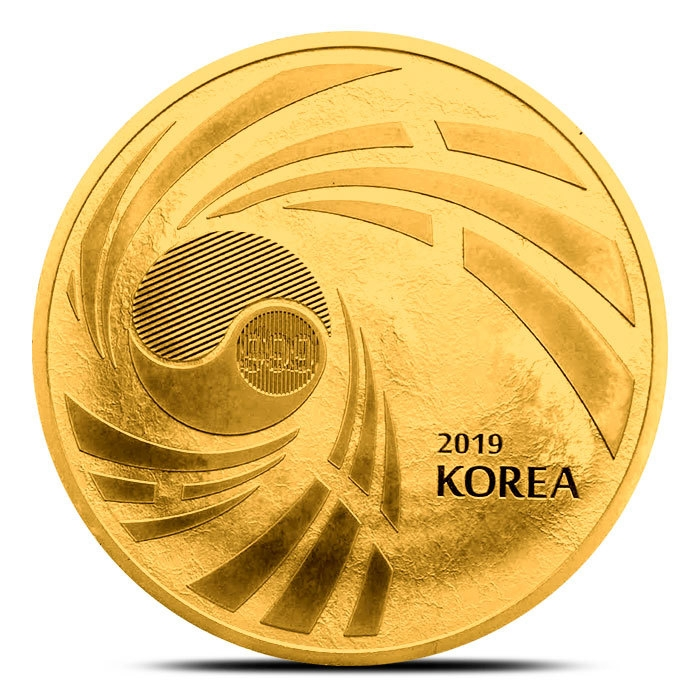 2019 South Korea 1 oz Gold Taekwondo Round