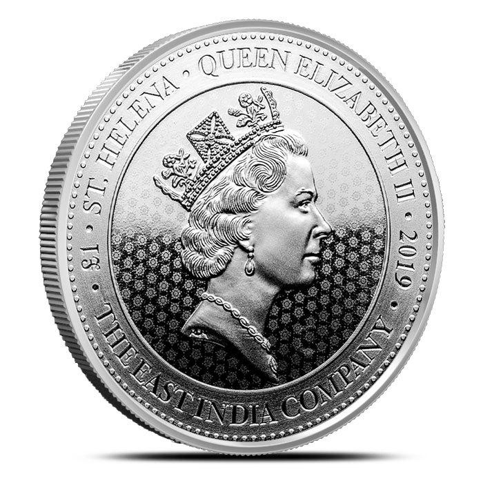 2019 1 oz Silver Saint Helena Spade Guinea Shield Coin