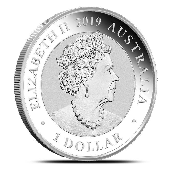 2019 Australia 1 oz Silver Bird of Paradise Coin Obverse