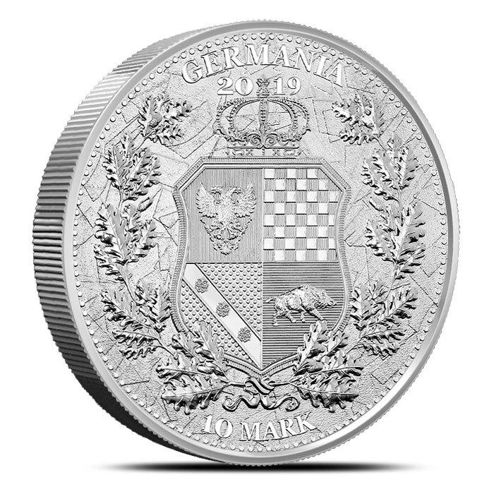 2019 2 oz Silver Germania Allegories Britannia Reverse