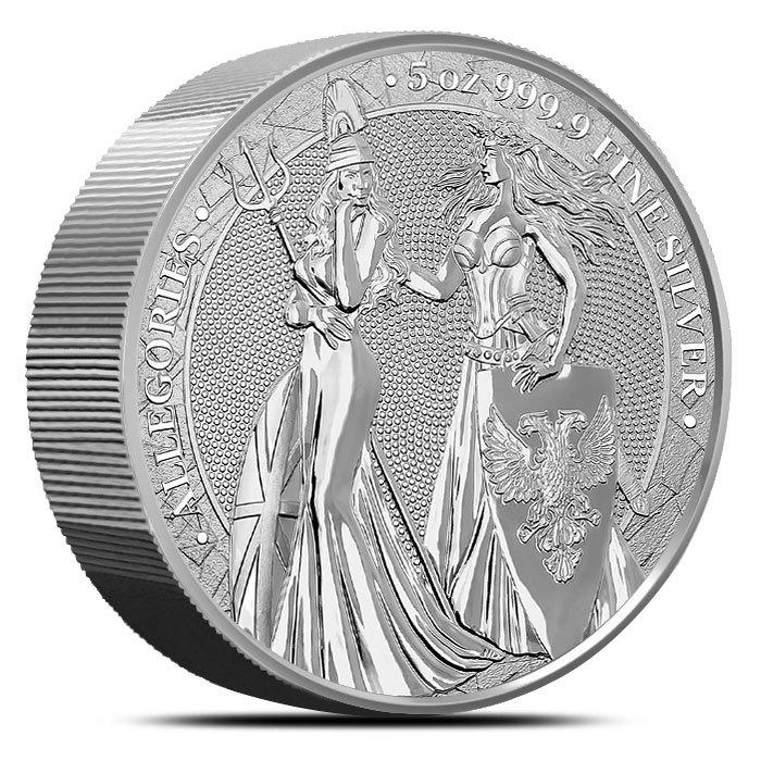 2019 5 oz Silver Germania Allegories Britannia Obverse