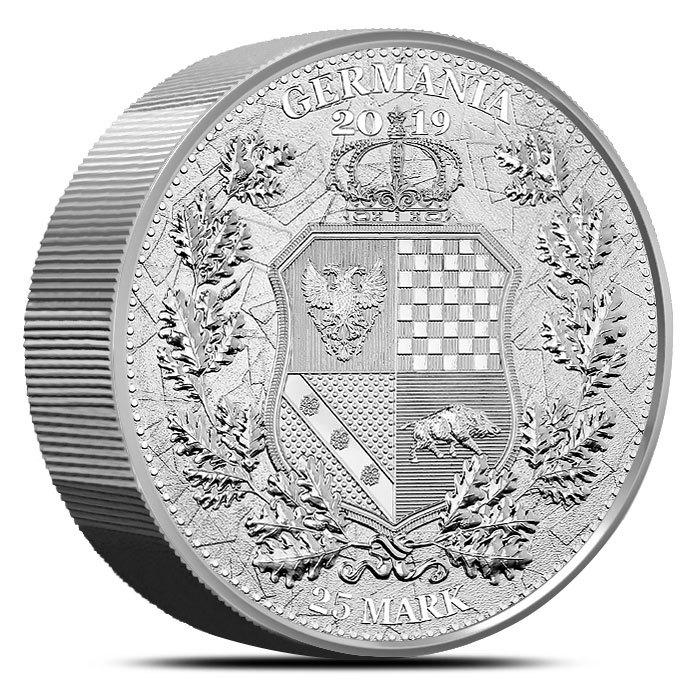 2019 5 oz Silver Germania Allegories Britannia Reverse