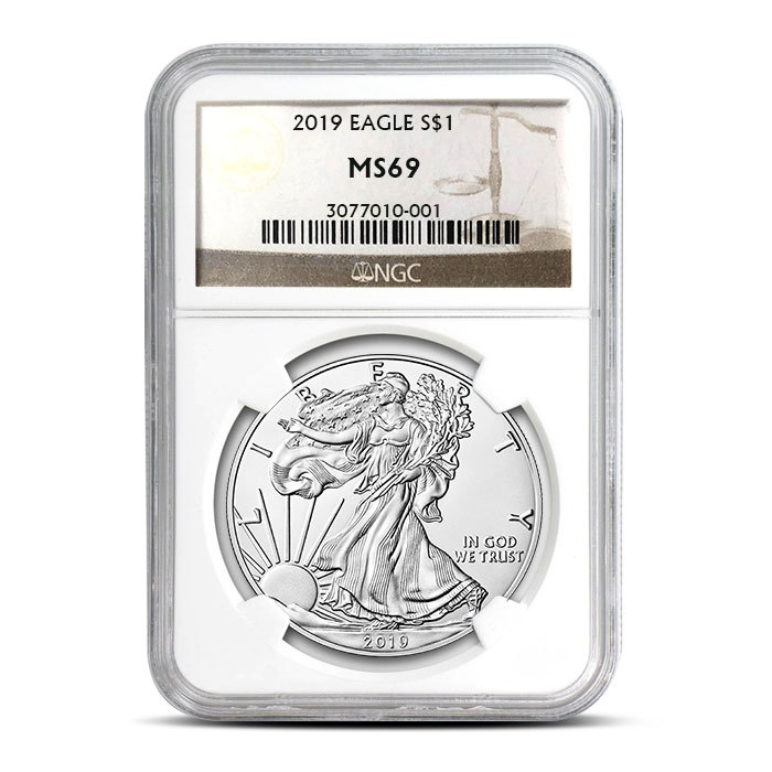 2019 Silver American Eagle | NGC MS69 Obverse