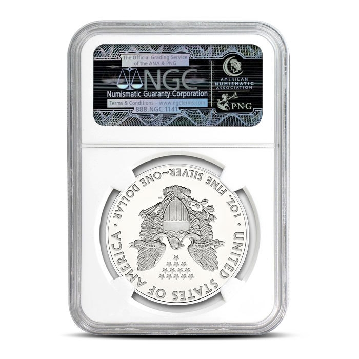 2019 Silver American Eagle | NGC MS69 Reverse